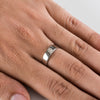 Ready to Ship - Single Diamond Platinum Ring JL PT 500 Ring Sizes 9, 18, 19, 20