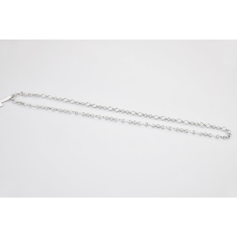 Designer Platinum Chain with Alternating Square and Round Links JL PT 769