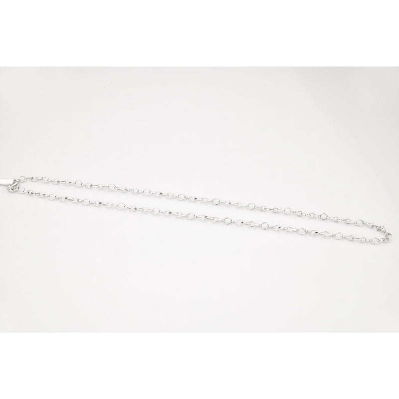 Designer Platinum Chain with Square and Round Links JL PT 779