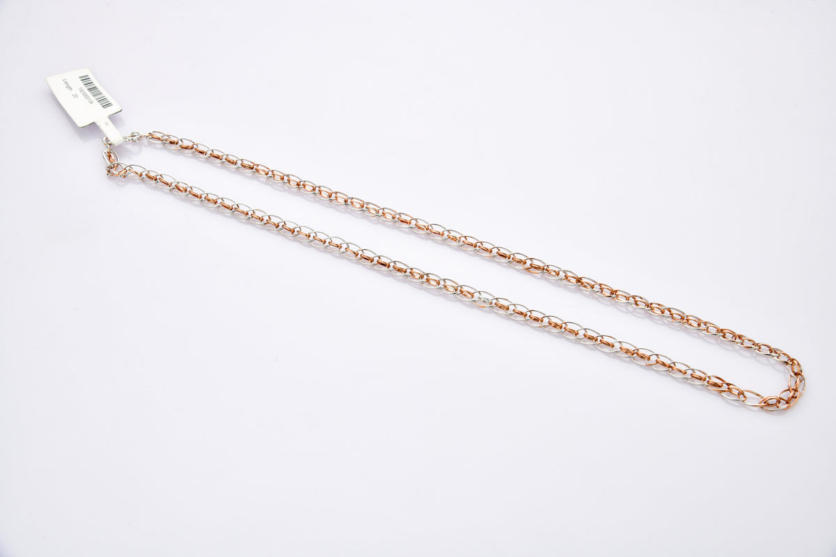 Platinum Rose Gold Mens Chain JL PT CH 877