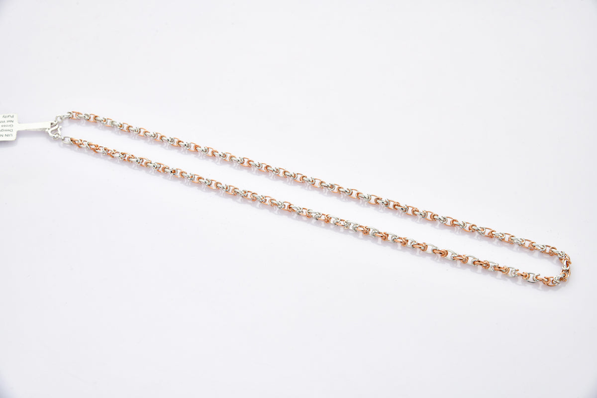 Designer Platinum Rose Gold Chain for Men JL PT CH 881