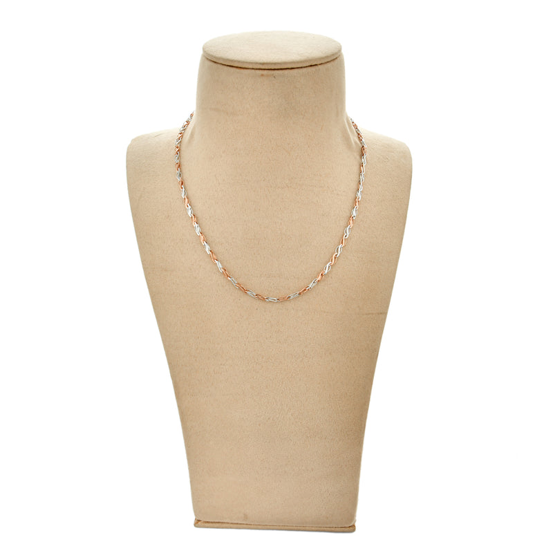 Men's Platinum & Rose Gold Chain JL PT CH 888
