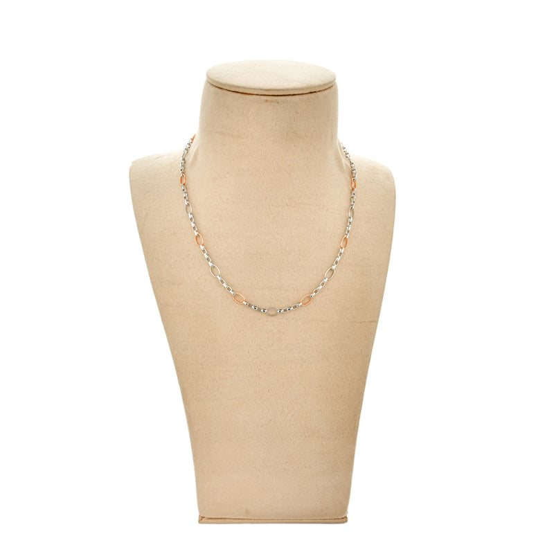 Men's Linked Platinum Chain with Rose Gold in Between JL PT CH 889