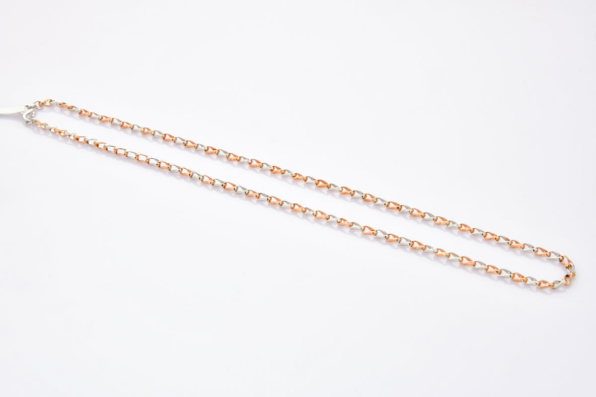 Designer Platinum Rose Gold Linked Chain JL PT CH 899