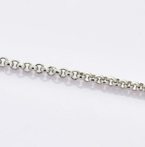 Platinum Bracelet for Men with Round Links JL PTB 710