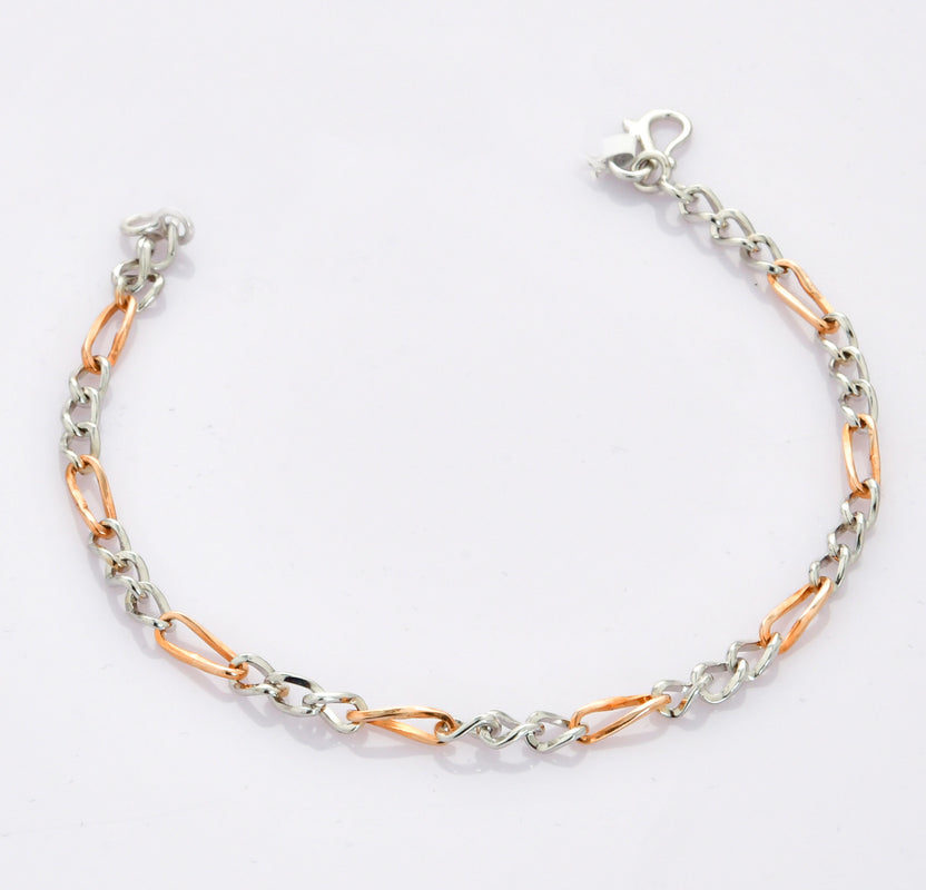 Designer Sachin Bracelet in Platinum & Rose Gold for Men JL PTB 693