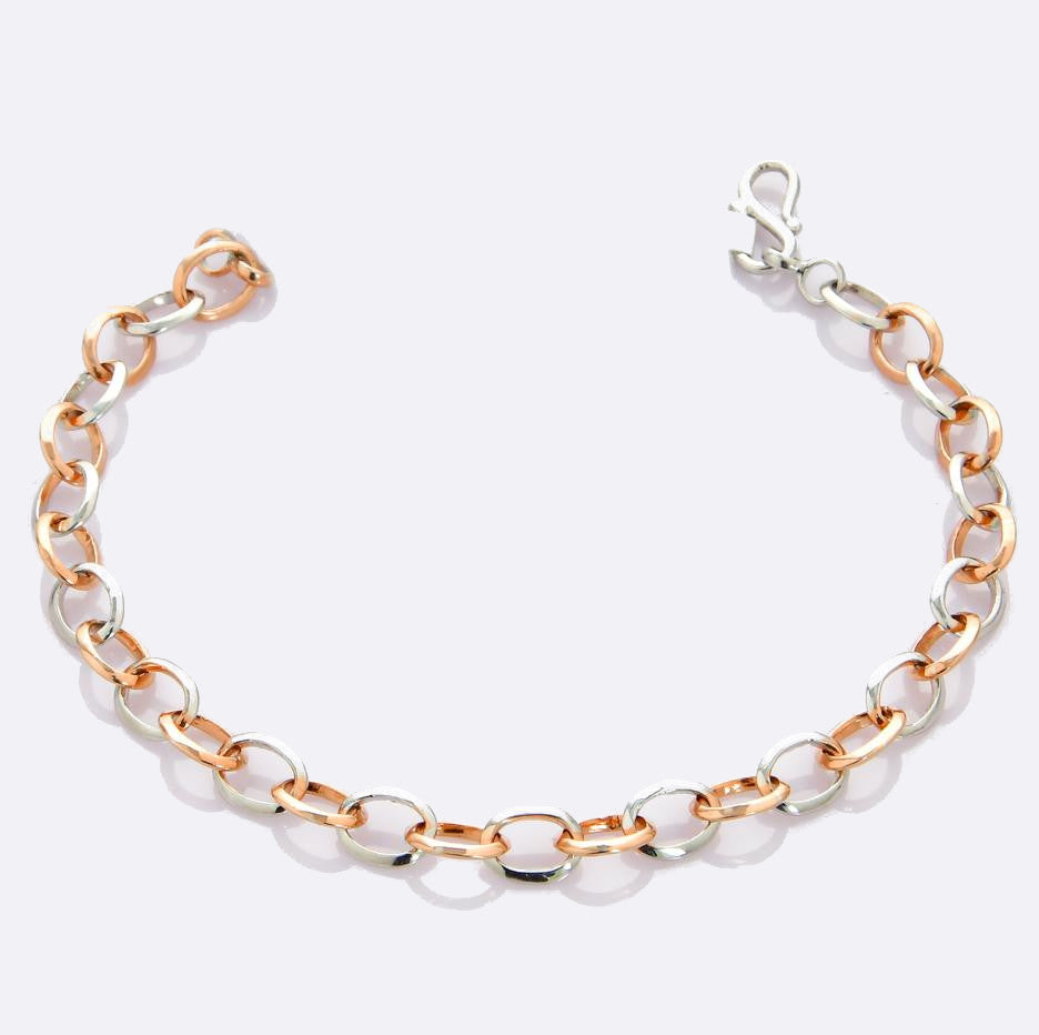 Platinum & Rose Gold Links Bracelet JL PTB 696