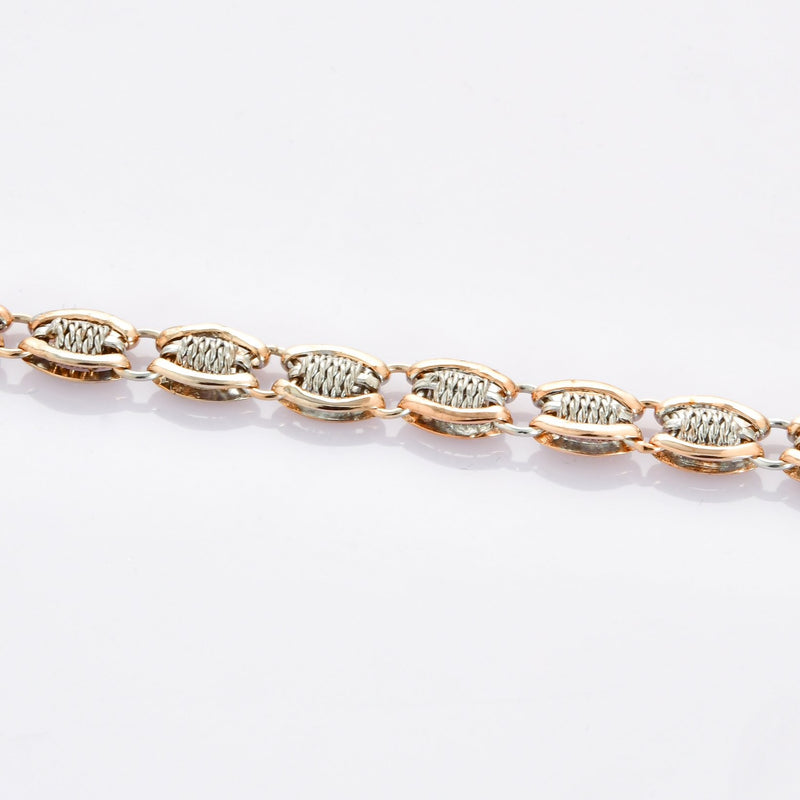 Designer Platinum & Rose Gold Bracelet for Men JL PTB 698