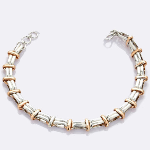 Platinum & Rose Gold Bracelet for Men JL PTB 705