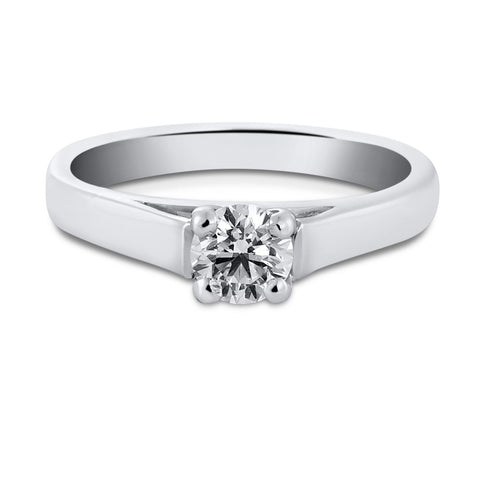 50 Pointer Classic 4 Prong Cathedral Setting Platinum Solitaire Ring JL PT 558