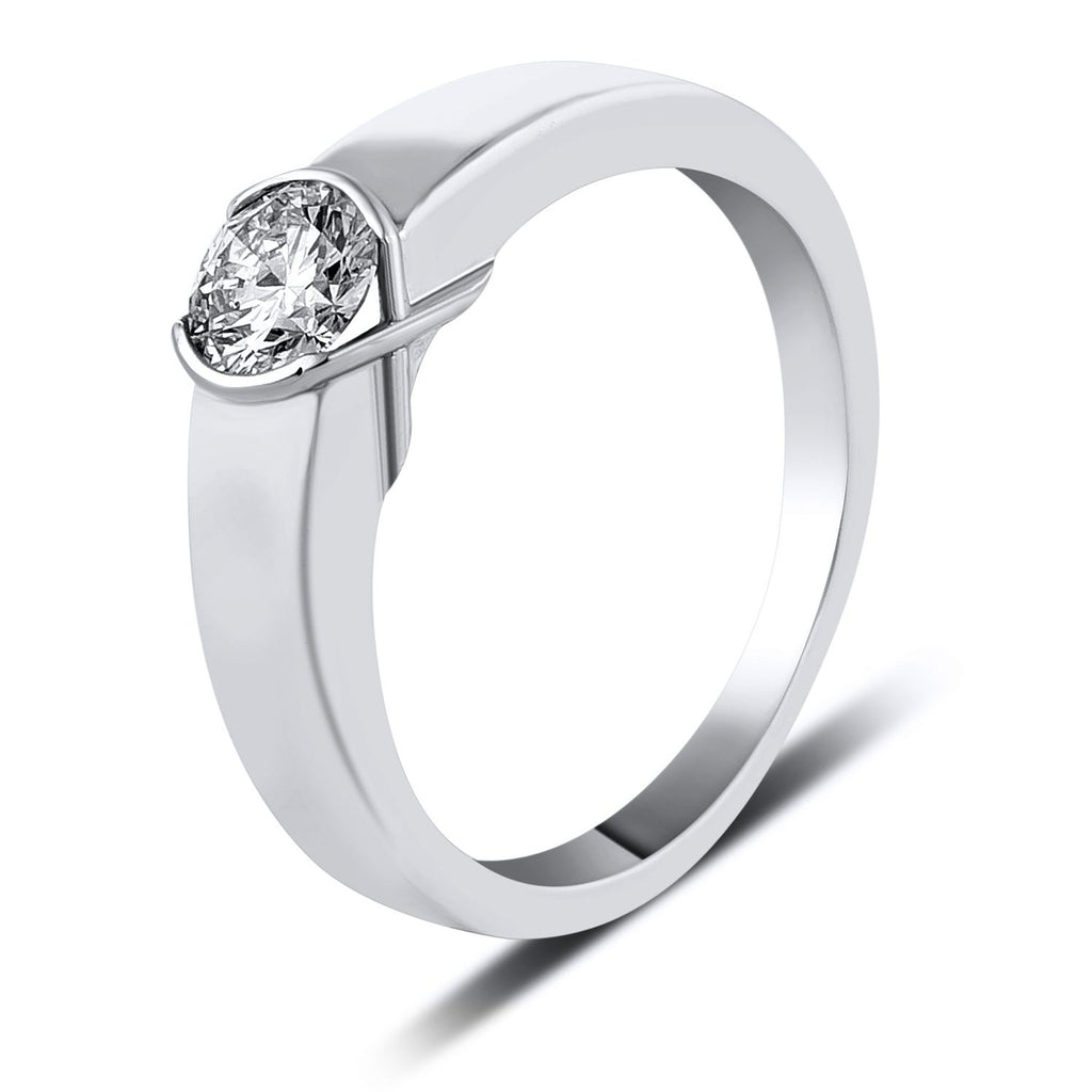 petite rings in white platinum engagement solitaire rockher with modern edge ring shank prong diamond round cut knife revised