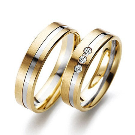 Designer Platinum & Gold Fusion Couple Rings JL PT 523