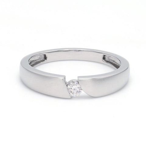 Front View of Elegant Single Diamond Ring for Men JL PT 578