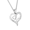 Front 2 View of Platinum Tripple Heart Pendant with Diamonds JL PT P 8067