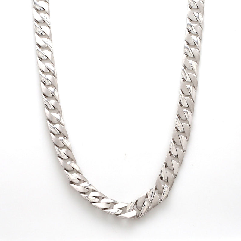 Front Side View of Men's Heavy Platinum Chain JL PT 737