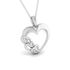 Front Side View of Plain Platinum Love Pendant JL PT P 8233