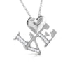 Front Side View of Platinum Infinity Heart Pendant with Diamonds JL PT P 8218