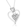 Front Side View of Platinum Infinity Heart Pendant with Diamonds JL PT P 8231