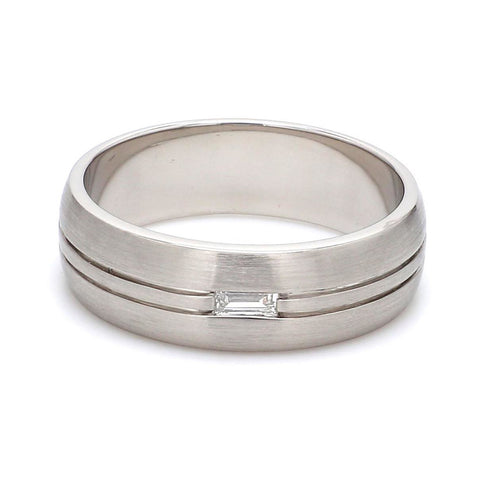 Front View of Baguette Diamond Couple Ring  JL PT 432