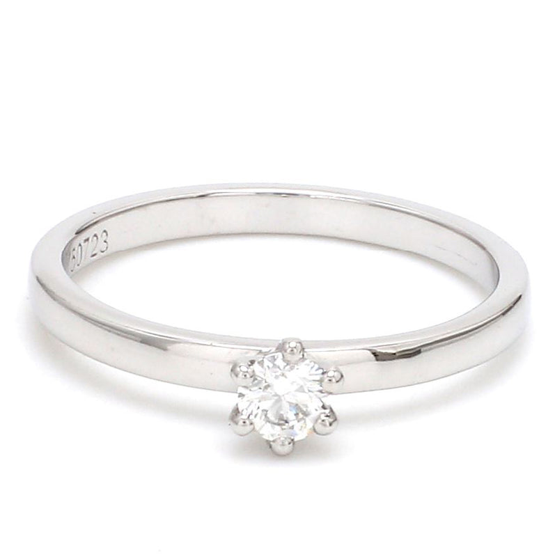 14 Pointer Classic 6 Prong Platinum Ring SKU 0012-A