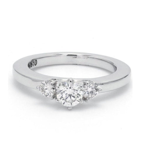 Solitaire Platinum Rings in India - 3 Diamond Platinum Engagement Solitaire Ring JL PT 326