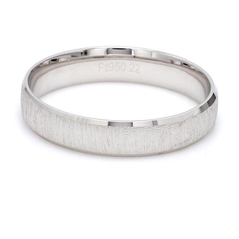 Back View of Japanese Textured Platinum Love Bands JL PT 606