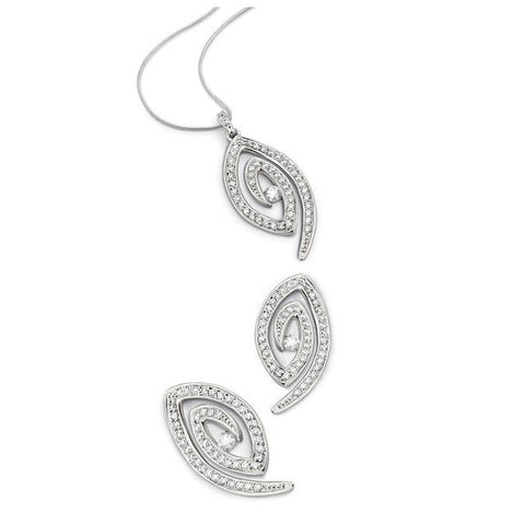 Spiral Platinum Earrings with Pave set Diamonds SJ PTO E 102