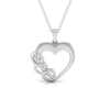 Front View of Plain Platinum Love Pendant JL PT P 8233