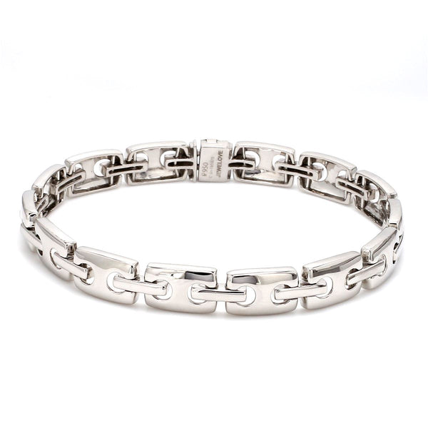 Side View of Platinum Bracelet for Men JL PTB 621