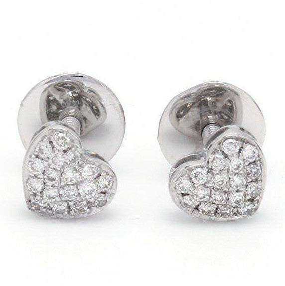 Platinum & Diamond Heart Earrings JL PT E 168