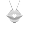 Front View of Platinum Love Pendant with Diamonds JL PT P 8093