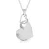 Front View of Platinum Love Pendant with Diamonds JL PT P 8108