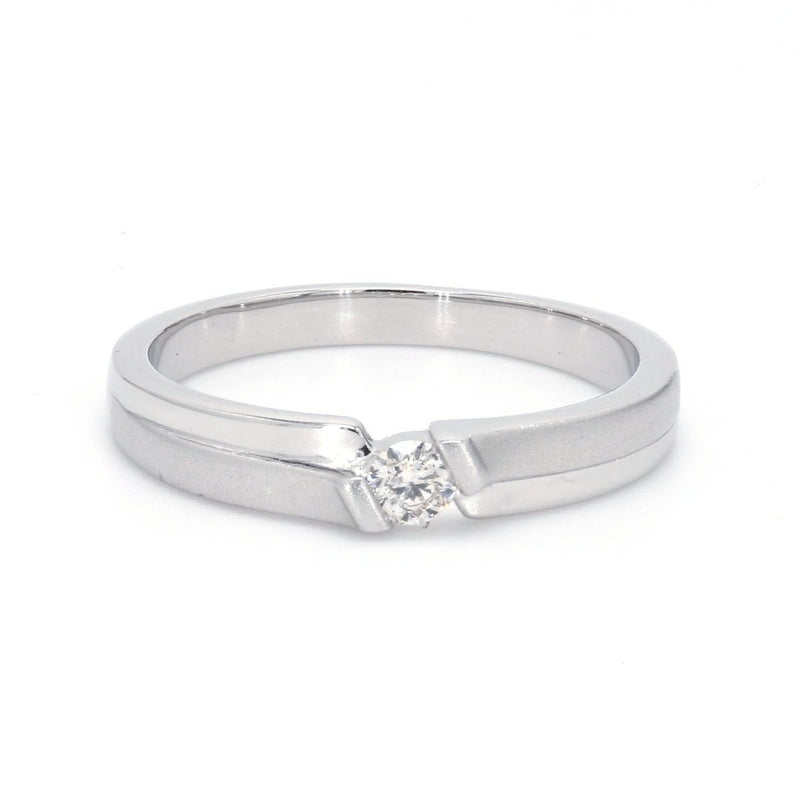 Designer Platinum Solitaire Ring for Men SJ PTO 158