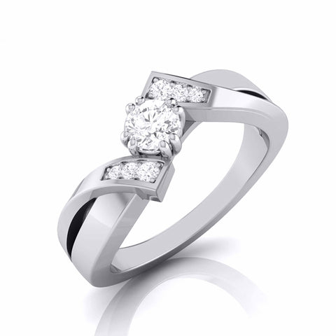 20-Pointer Designer Platinum Diamond Engagement Ring JL PT G-104
