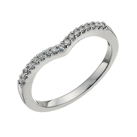 Half Eternity Platinum Ring with a Curve SJ PTO 227