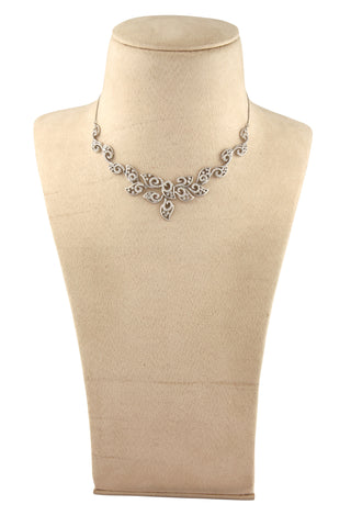 Heavy Platinum Necklace with Diamonds JL PT N36