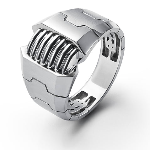 Designer Heavy Platinum Ring for Men JL PT 685 13 grams