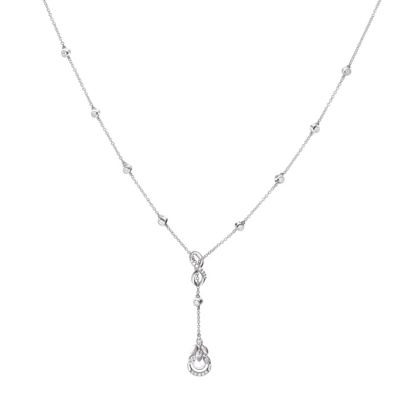Infinity Platinum Evara Diamond Necklace with Diamond Studded Chain for Women JL PTN 174