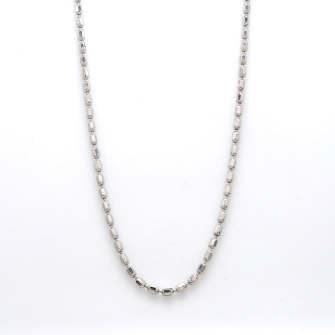 Japanese Platinum Chain with Cylindrical Diamond Cut Balls JL PT 741