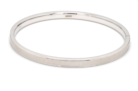 Japanese Openable Platinum Bangle with Centre Matte Finish JL PTB 636