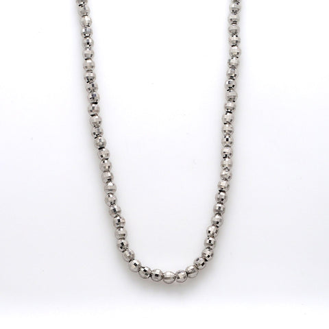 Japanese Platinum Chain with Diamond Cut Balls JL PT 743