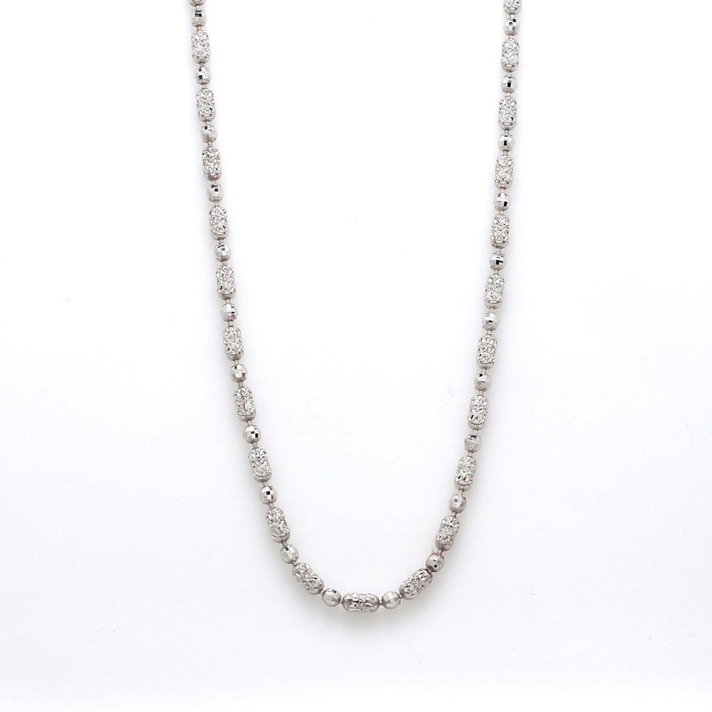 Japanese Platinum Chain with Unique Pattern of Diamond Cut Balls JL PT 740