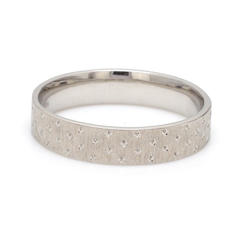 Japanese Platinum Love Bands with Dotted Texture JL PT 923