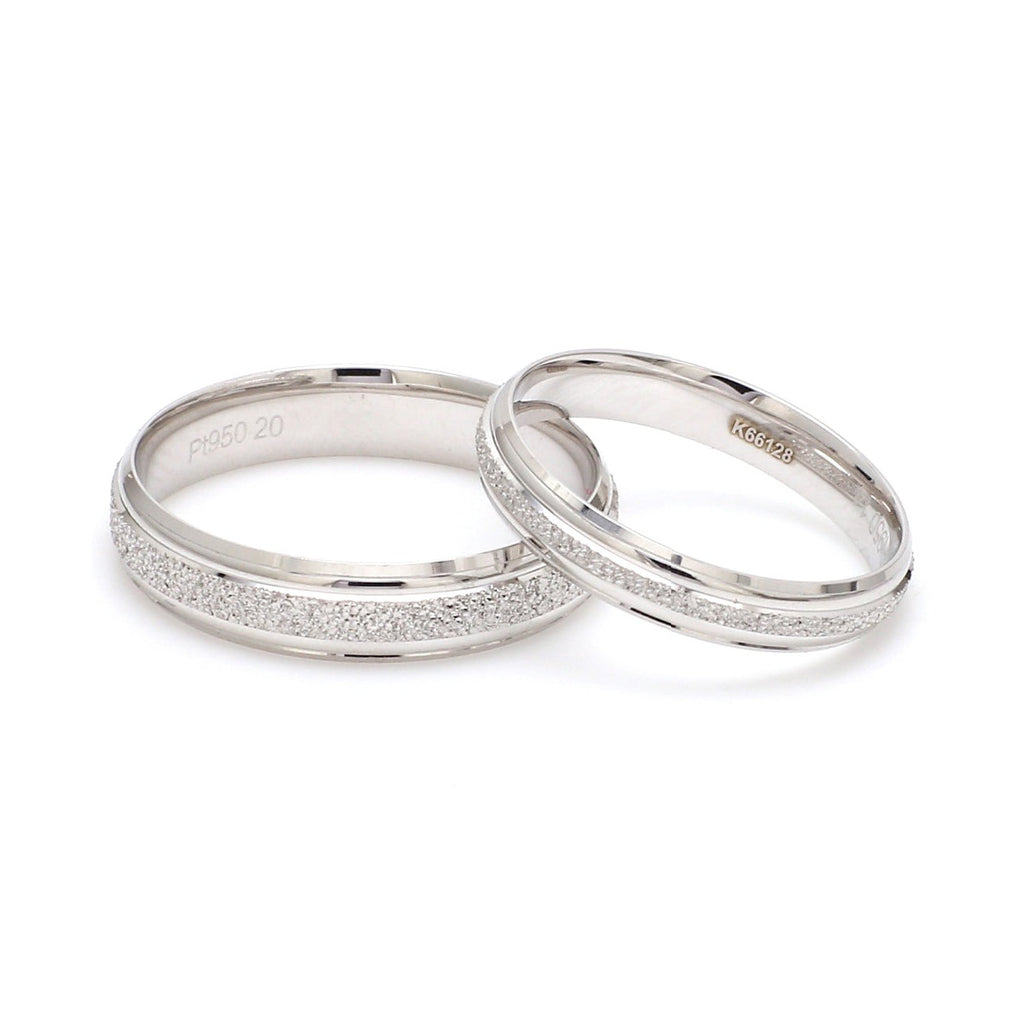 Japanese Rough Texture Platinum Love Bands JL PT 609