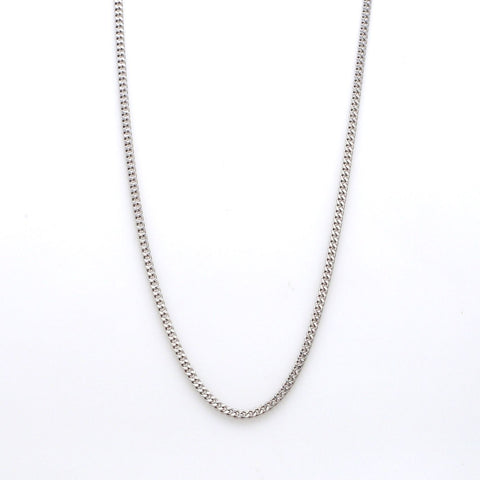 Japanese Simple Plain Platinum Chain SJ PTO 703