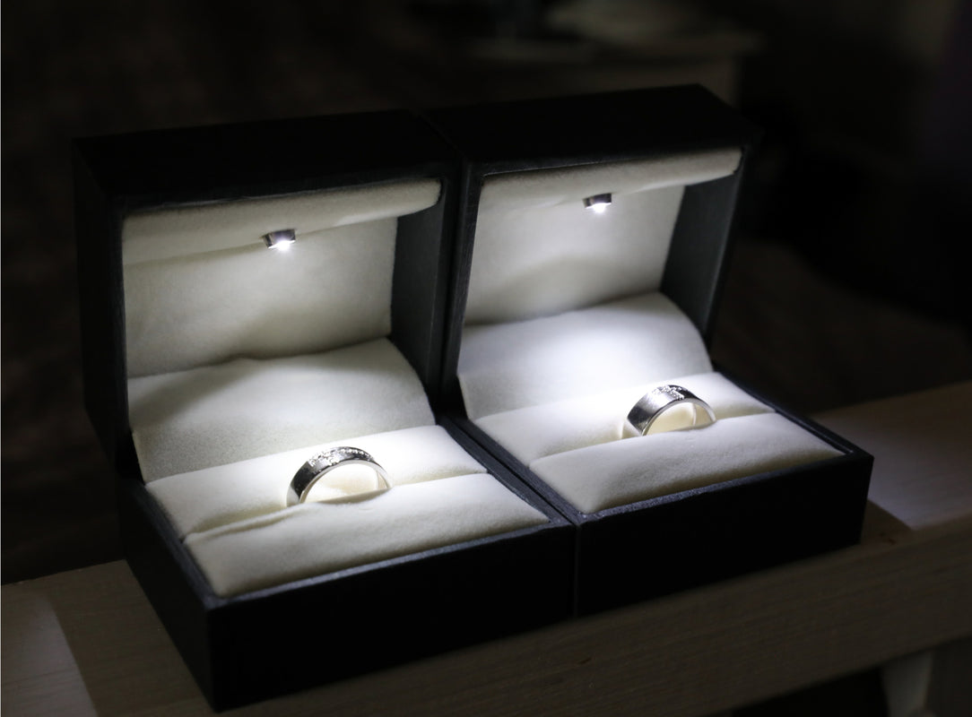 Forever Love Platinum Couple Rings with Black Engravings JL PT 581