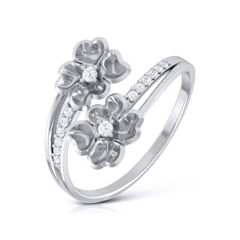 Flowery Platinum Ring for Women JL PT LR 41