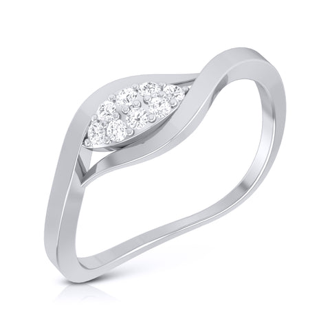 Curvy Platinum Diamond Ring for Women JL PT LR-57