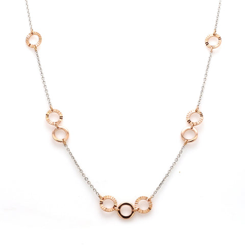 Lightweight Platinum + Rose Gold Chain for Women JL PT 764