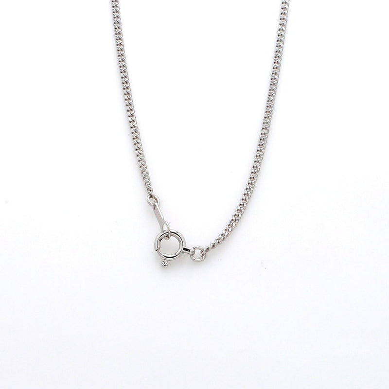 Japanese Simple Platinum Curb Chain 1.3mm SJ PTO 703